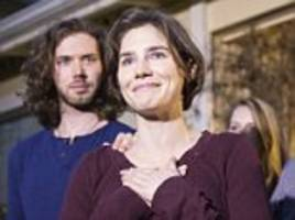 Amanda Knox tried to lead a normal life by getting engaged, graduating from university and writing theater reviews - all with a murder conviction hanging over her head