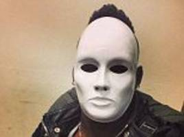 Mario Balotelli dons creepy white mask to explain his 'mood'